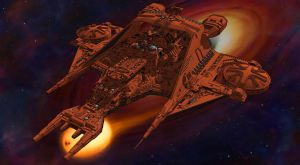 The Draconia - 3/4 view (Buck Rogers) by Shadowstate