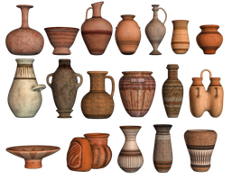 Pottery 02 PNG Stock by Roys-Art