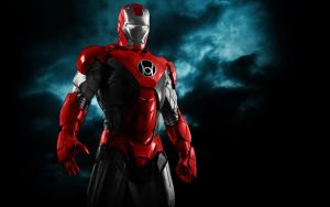 Iron Man Red Lantern Armor by 666Darks