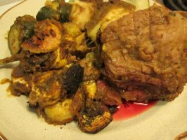 Butternut-Honey Lamb, Squash, and Plaintains 3 by Windthin
