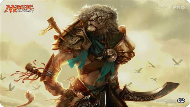 Ajani, Mentor of Heroes playmats by AaronMiller