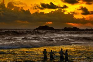 Sunset Over Indian Ocean 2 by CitizenFresh