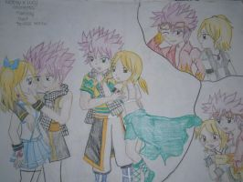 NaLu and Edo-NaLu: my last year drawing by Ayakashixxx