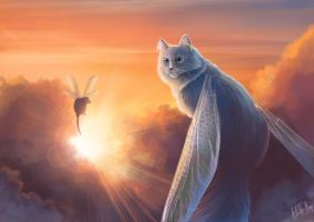 Sky cat by IntoTheBear