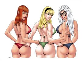Marvel Booties... I mean Beauties :) Color by ESO2001