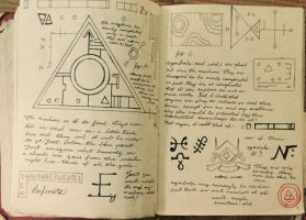 Gravity Falls Journal 3 Replica - Photocopied Page by leoflynn