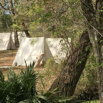 The Confederate Encampment At Natural Bridge by TallyCrusher