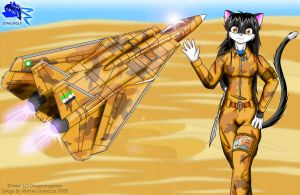 Catgirl in desert -Ota version by Otakuwolf