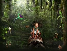 Jungle ride by Turtoise by annemaria48