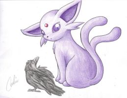 PKMN: Eeveelutions - Espeon by Carro-chan