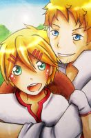 Finnian and Bardroy by Naaruuchan