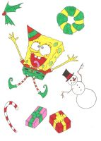 SpongeBob's Merry Nickmas by nerdsman567