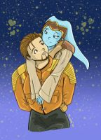 Skye and Carth -for Tank- by Mirax-chan