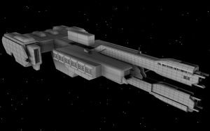 HALO 2 UNSC Frigate WIP 3 by korblborp
