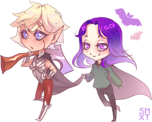 Elf and vampire commission by Smoxt
