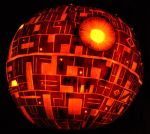 Deathstar pumpkin 2009 by NoelDickover