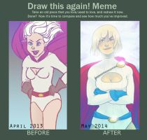 Draw This Again: Powergirl by Beere-Jade