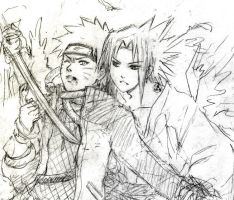 SasuNaru sketch... failed by Lizeth