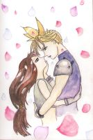 Cloud and Tifa by sugerplumfairygirl