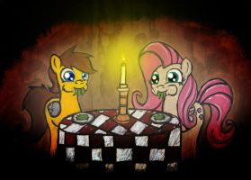 Romantic Dinner by Checkmate-the-Pony