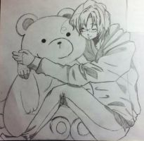 APH doodle -Kuma and Canada by KHtresLZ