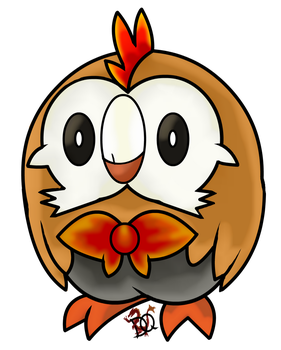 Fire Rowlet by DraconianQueen
