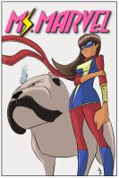 Ms Marvel And Lockjaw by JohannLacrosaz