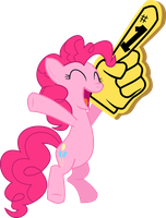 Pinkie pie cheering with glove by Death-of-all