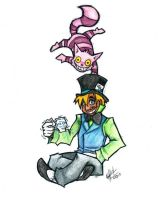 Hatter and Cat by Weiz-Crane