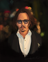 Johnny Depp Caricature by Imaginesto