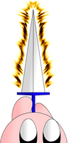 Fire Sword Kirby by KirbyDude64