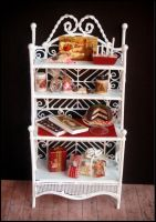 Christmas vintage cabinet by MiniatureChef
