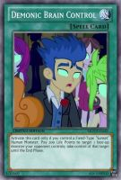 Sunset's Brain Control (MLP): Yu-Gi-Oh! Card by PopPixieRex