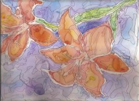 Water color flowers by FeedTheBirds