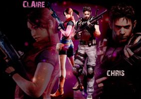 Claire and Chris Wallpaper by Dreamingwithwakeup
