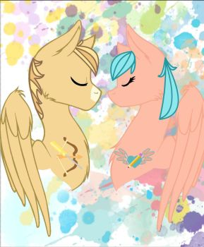 Dustysaddle and Cobaltrainbow by Haybay1031