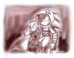 Altair and maria by Midowko