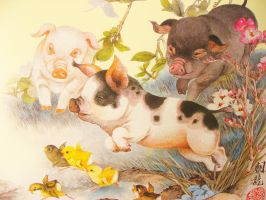 Year of the Pig by mengqingfei