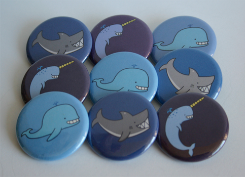 Aquatic Friends Button Set by ThePockyGirl