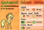 Applejack Colour Guide by Atmospark