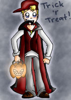 Zap in his Halloween costume (Art Trade) by EVIE128