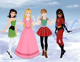 Young Heroines' Halloween by M-Mannering