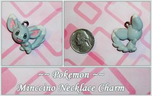 Pokemon - Minccino Necklace Charm - Commission by YellerCrakka