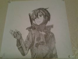 Kazuto Kirigaya (Kirito), from Sword Art Online. by Kymata