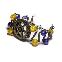 Swedish Steampunk Bracelet by CatherinetteRings