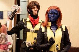 Gambit and Mystique by EriTesPhoto