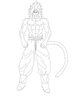 raw lineart Majin Shin by ShinTheDragonFighter