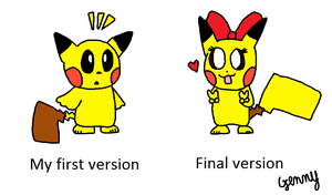 My Pikachu style triology by genny03