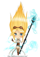 Chibi Janna Hextech (League of Legends) by Hyldenia
