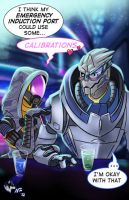 Tali and Garrus: Talibrations by Radiant-Grey